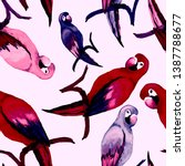 watercolor seamless pattern... | Shutterstock . vector #1387788677