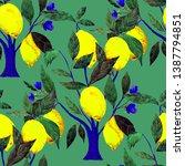 watercolor seamless pattern... | Shutterstock . vector #1387794851
