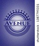 avenue with denim texture....   Shutterstock .eps vector #1387795331