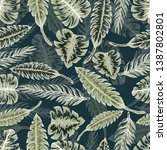 pattern illustration of... | Shutterstock .eps vector #1387802801