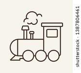 Locomotive Line Icon. Train ...