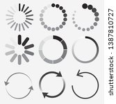 loading status icons  round...   Shutterstock .eps vector #1387810727