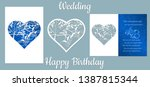 the inscription happy birthday  ... | Shutterstock .eps vector #1387815344