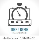 vacation time   travel suitcase ...   Shutterstock .eps vector #1387837781