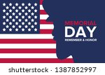 memorial day in united states.... | Shutterstock .eps vector #1387852997