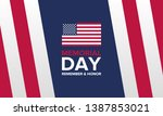 memorial day in united states.... | Shutterstock .eps vector #1387853021