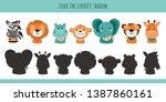 animals. learning children game.... | Shutterstock .eps vector #1387860161