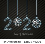 2020 happe new year and 2020... | Shutterstock .eps vector #1387874201
