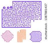 set of labyrinths  mazes... | Shutterstock .eps vector #1387881437