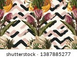 vintage beautiful and trendy...   Shutterstock . vector #1387885277