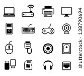 computer icon set vector | Shutterstock .eps vector #138790694