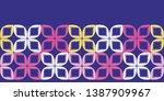 geometric retro leaf square... | Shutterstock .eps vector #1387909967