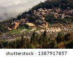 samaba rice terrace fields in... | Shutterstock . vector #1387917857
