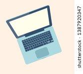 open laptop pc. vector... | Shutterstock .eps vector #1387920347