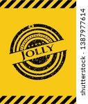 jolly black grunge emblem ...   Shutterstock .eps vector #1387977614