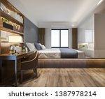 3d rendering beautiful luxury... | Shutterstock . vector #1387978214