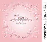 wreath of roses or peonies... | Shutterstock .eps vector #1387978967