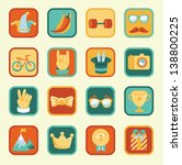 vector set with achievement and ... | Shutterstock .eps vector #138800225