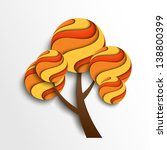 stylized autumn tree. vector... | Shutterstock .eps vector #138800399