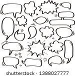 a set of comic speech bubbles... | Shutterstock .eps vector #1388027777