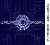 modern technology background....   Shutterstock .eps vector #1388030561