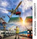 logistics system and transport...   Shutterstock . vector #1388032577