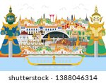 guardian giant in thailand and... | Shutterstock .eps vector #1388046314