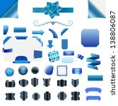 set of clean blue vector blank... | Shutterstock .eps vector #138806087