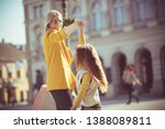 lets go girl. mother and... | Shutterstock . vector #1388089811