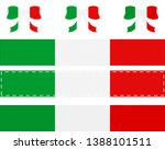 italian flag on ribbon and bow | Shutterstock .eps vector #1388101511