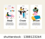 set of creative mobile template ...