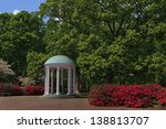 Old Well at UNC Chapel Hill in the Springtime