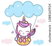cute unicorn vector  pony... | Shutterstock .eps vector #1388165924