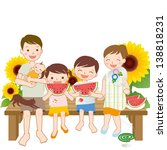 summer family   illustration | Shutterstock . vector #138818231