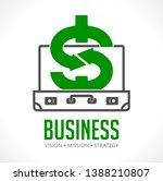 dollar sign in suitcase  ...   Shutterstock .eps vector #1388210807