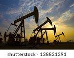 oil pumps. oil industry...   Shutterstock . vector #138821291