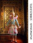 art culture thailand dancing in ... | Shutterstock . vector #1388213351