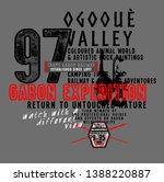 slogan print for t shirt... | Shutterstock .eps vector #1388220887