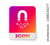 white magnet with money icon... | Shutterstock .eps vector #1388233277