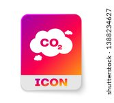 white co2 emissions in cloud... | Shutterstock .eps vector #1388234627