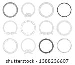 round rope frame. circle ropes  ...   Shutterstock . vector #1388236607