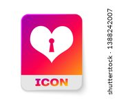 white heart with keyhole icon... | Shutterstock .eps vector #1388242007