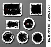 set of grunge paper cut... | Shutterstock .eps vector #138826064