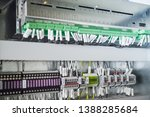 wiring plc control panel with... | Shutterstock . vector #1388285684