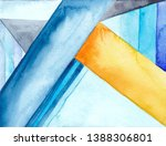 watercolor abstract geometric...   Shutterstock . vector #1388306801