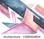 watercolor abstract geometric...   Shutterstock . vector #1388306804