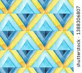 abstract blue and yellow...   Shutterstock . vector #1388306807