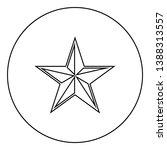 star five corners pentagonal... | Shutterstock .eps vector #1388313557