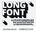long shadow font. retro...   Shutterstock .eps vector #1388321144