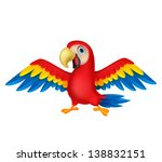 cute parrot bird cartoon | Shutterstock .eps vector #138832151